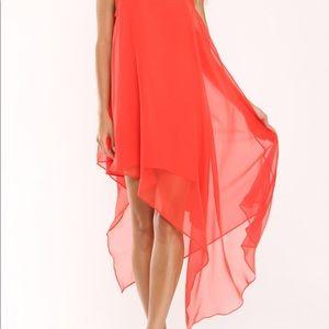 Prive by Allen Schwartz Antonia Dress in Orange